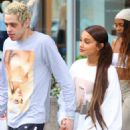 Ariana Grande and Pete Davidson wear matching Sweetener sweaters in NYC