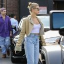 Hailey Bieber – Leaving IL Pataio Italian restaurant in Beverly Hills