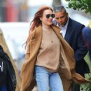 Lindsay Lohan – Leaves her apartment in New York City - 454 x 506