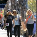 Miley Cyrus with her mother out in Studio City
