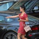 Vanessa Hudgens in Mini Dress – Leaving the Montage Hotel in Beverly Hills