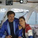 "Natalie Wood and Robert Wagner aboard ""Splendour"" in Marina del Rey, CA July 7, 1978"