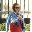 Isla Fisher – Grabs Food At Gracias Madre in Los Angeles 12/2/ 2016