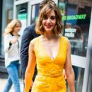 Alison Brie and Betty Gilpin – Seen on AOL Build in NYC - 454 x 681