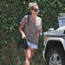 Ashley Tisdale Hot In Shorts At A Spa In Studio City