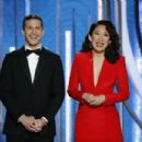 Andy Samberg and Sandra Oh : 76th Annual Golden Globe Awards - 454 x 303