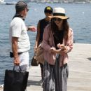 Lily Collins – Arrives at Hotel Regina Isabella in Ischia Porto