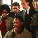 Craig March, Kim Hawthorne, Morgan Freeman, Charles Anderson, Dylan Baker and Monica Potter in Paramount's Along Came A Spider - 2001 - 400 x 266