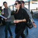 Angelina Jolie Arrives At Los Angeles International Airport