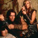 Arnold Schwarzenegger and Sandahl Bergman