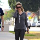 Ashley Tisdale In Tights Out and About In La