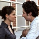 Zach Braff and Amanda Peet