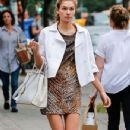 Model Jessica Hart spotted out and about in New York City, New York on September 29, 2014