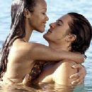 Orlando Bloom and Zoe Saldana