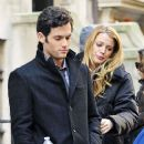 Blake Lively and Penn Badgley in NYC