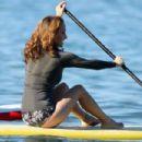 Giada De Laurentiis - Paddle Surfing In Hawaii 10/9/07
