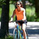 Lea Michele – Bike Riding in The Hamptons - 454 x 603