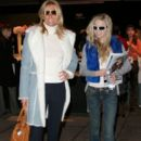 Patti Hansen with her eldest daughter at the Olympus Fashion Week in 2004
