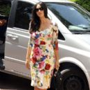 Monica Bellucci arrives at Ischia's Heliport in Naples, Italy on July 11, 2012
