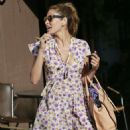 Eva Mendes Leaving A Salon In Hollywood