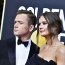 Taron Egerton and Emily Thomas At 77th Golden Globe Awards (2020) - 454 x 326