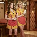 Kat Dennings as Max Black and Beth Behrs as Caroline Channing in 2 Broke Girls Publicity - 454 x 605