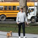 Minka Kelly – Walking her dog on set of 'Titans' in Toronto
