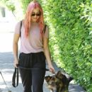 Emma Slater – Walking her dogs in Los Angeles - 454 x 681