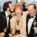 The Director James L Brooks, Shirley MacLaine and Jack Nicholson At The 56th Annual Academy Awards - Arrivals (1984) - 454 x 295