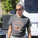Lady Gaga i8n Denim Shorts – Out in Malibu