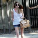 Ashley Greene at a pool party in Los Angeles