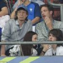 Sir Mick Jagger and his lookalike son Lucas join the rocker's other children Lizzie and James as they watch Portugal claim victory in EURO 2016 Final - 454 x 346