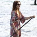 Cindy Crawford Goes For A SUP