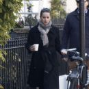 Felicity Jones – Out for a morning walk in London