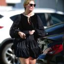 Mischa Barton in Black Mini Dress – Shopping at Petco in West Hollywood