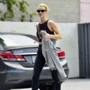 Rosie Huntington Whiteley – Leaving Body by Simone fitness club in Los Angeles - 454 x 574