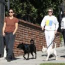 Kristen Stewart and Sara Dinkin – Hiking with their dogs in Los Angeles