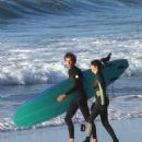 Shailene Woodley – Gets a surfing lesson on the set of 'Big Little Lies' in Sausalito