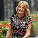 Charlotte Hawkins -In a floral print dress at the Global Offices in London - 454 x 680