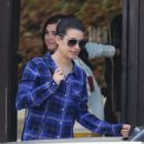 Lea Michele  at a West Hollywood hair studio yesterday December 27.2012