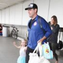 Carson Daly and his family are seen at LAX on July 1, 2016