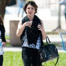 Shenae Grimes - Leaving Florida International University After Appearing For The L.E.I Model Citizen Campaign, 2010-03-01