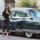 Dita Von Teese was out and about in the Los Angeles area of California on January 11, 2012