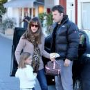 Ben Affleck and Jennifer Garner out with Seraphina and Samuel (December 11)