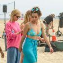Chloe Bennet in Bikini on 'Valley Girl' set in LA - 454 x 681