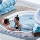 Camila Morrone in White Swimsuit with Leonardo DiCaprio on holiday in Positano
