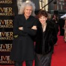 Brian May and Anita Dobson attend the 2012 Olivier Awards - 395 x 594