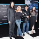 Nick Simmons, Shannon Tweed, Gene Simmons and Sophie Simmons at The LA Premiere of Saban's Power Rangers presented by Lionsgate at Fox Bruin Theatre on March 22, 2017 in Los Angeles, California. - 454 x 329