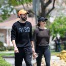 Elizabeth Olsen in Tights with boyfriend Robbie Arnett in Los Angeles - 454 x 629