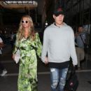 Paris Hilton and Chris Zylka are seen at LAX.NON EXCLUSIVE June 08, 2018 - 454 x 575